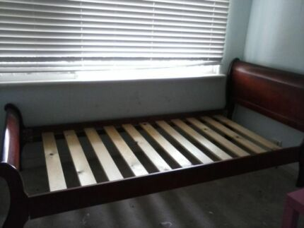 Single Leather Sleigh Bed Single Sleigh Bed