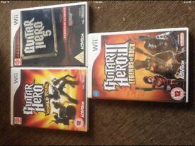 Nintendo Wii Guitar Hero Games
