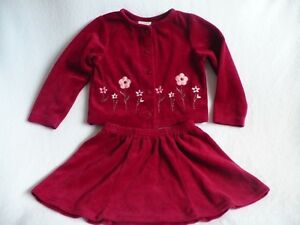 Carter's 2 piece burgundy velour outfit