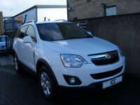 12 12 VAUXHALL ANTARA 2.2 CDTi DIESEL SUV 5DR WHITE HEATED LEATHER ALLOYS A/C