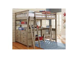 Nouveau,  New 6 Piece Twin Loft Bed
