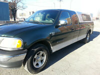 2001 Ford F-150 XLT SUPER CAB 8 FT LONG BOX 190 KM SAFTIED