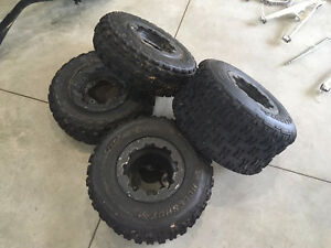 2008 Can Am DS 450 X - Tires on Rims (set of 4)