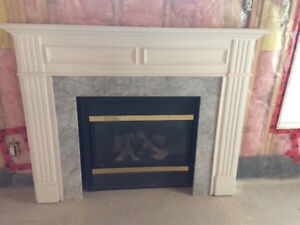 Majestic Gas fireplace with marble mantel