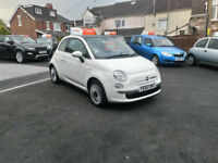 2012 62 FIAT 500 1.2 LOUNGE,STOP/START,ONLY 37000 MILES WITH FSH,SUNROOF