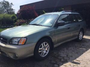 2003 Subaru Outback. 2.5 Liter.   228000 km. (Non Smoker).