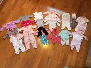 Newborn Girl clothes lot