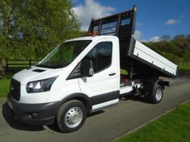 FORD TRANSIT 350 130PS FORD FIT TIPPER 17 REG 20,500 MILES