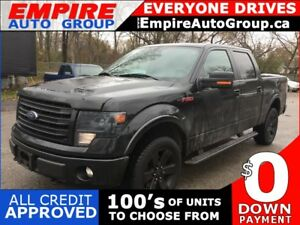 2014 FORD F-150 PLATINUM * 4WD * LEATHER/CLOTH * NAV * REAR CAM