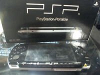PSP Gaming console with multiple downloaded games