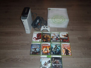 Xbox 360 and 10 Games