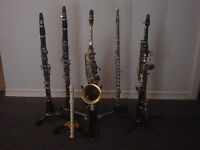 In-home/Online Clarinet, Saxophone, Flute and Piano lessons.