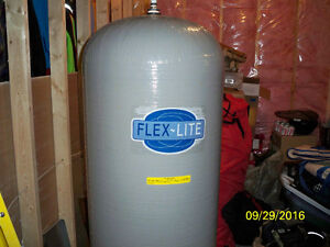 water filter retension tank 120 gallon and pump