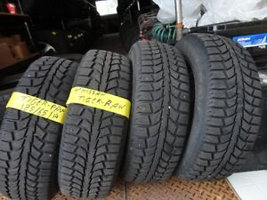 4 WINTER TIRE WITH RIMS OFF NISSAN 185/65/R14 95%