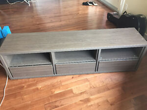 Solid wood, deluxe TV stand with drawers - Made in Denmark