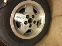 5 jeep rims with winter tires