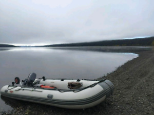 Seamax 16ft inflatable boat/trailer