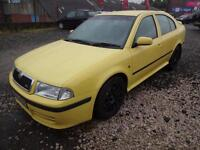 SKODA OCTAVIA 1.8T VRS~54/2004~5 DOOR H/BACK~MANUAL~180 BHP~STUNNING RARE YELLOW