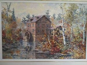 Original Oil Painting by James L. Keirstead – Misty Morn Kingston Kingston Area image 2