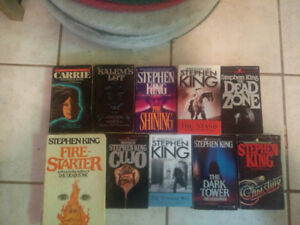 Stephen King collection: 46 books sold as a package; $200.