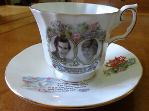 Commemorative teacup for Prince Charles & Diana's Wedding 1981