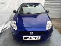 56 REG Fiat Grande Punto 1.2 Active 5dr,Low Mileage Only 59000,Lady Owner ,2 keepers,MOT 22/02/2018