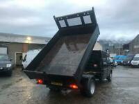 FORD TRANSIT 115 T350L DBL CAB RWD 2.4 LWB TIPPER – 1 YR MOT – 08-REG (M: 07435