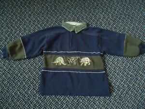 Boys Size 3 Long Sleeve Polo Style Dress Shirt