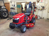 """Massey Ferguson 25hp Tractor with Loader and 60"""" Mid Mower"""