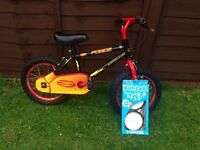 Boys Apollo force bike with new stabilisers