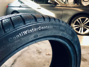 4 Continental Winter RunFlat tires, 225-45-18, Perfect Condition
