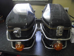 VINTAGE SHOEI MOTORCYCLE HARD SADDLEBAG SB 3R
