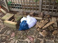 Hardcore rubble bricks slabs in Bookham