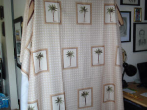 Florida Shower Curtain with matching hand towels