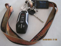 FOUND:  FORD KEY WITH FOB AND WATERLOO TAB
