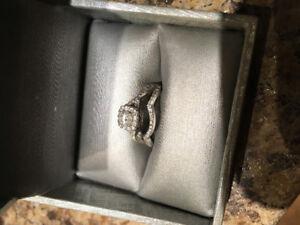 Engagement/wedding band duo