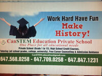 High School credit courses, Private School, Tutoring-Summer time