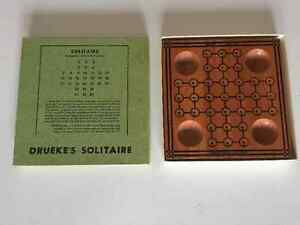 Drueke's Solitaire Vintage Wood Solitaire Game