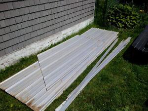 Galvanized metal siding