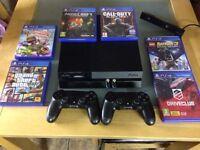 PlayStation 4 + camera + games