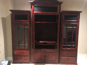 Beautiful custom made solid wood wall unit