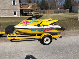 Two 1997 Seadoo's - Good Condition - With Trailer