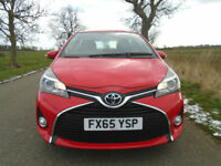 2015/65 TOYOTA YARIS 1.33 ICON 5DR (TSS) RED - BALANCE OF 5 YEAR WARRANTY