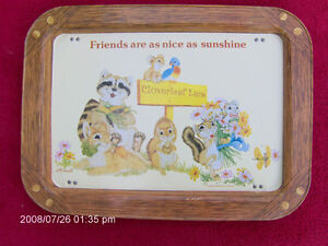 *AMERICAN GREETING CARDS * T.V.TRAY * CIRCA 1979 * RARE * pst 46