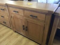 **ex-display/seconds**solid oak sideboard--ONLY £190--CALL TODAY!!!