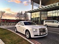 Wedding cars rolls Royce phantom/ghost