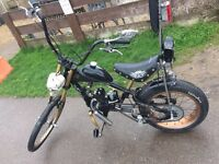 Petrol chopper bike one-of-a-kind £350 or swaps let me no what you have