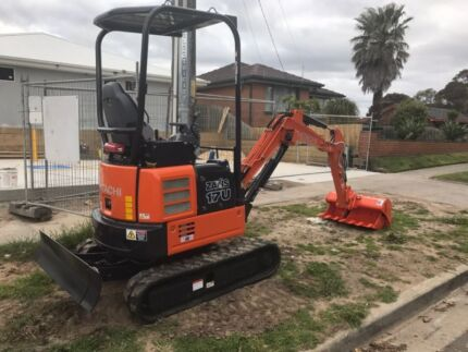 Mini excavator hire! Light trailer and digger! $220