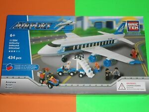 Brictek Kit Avion Aeroport Set Lot Compatible bloc Lego v/VIDEO