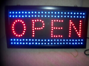 LED OPEN&BUSINESS SIGNS/LED ROPE/READY MADE SIGNS&SIGN HOLDERS.